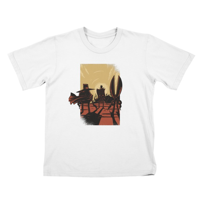 Rock Paper Scissors Kids T-Shirt by Toxic Onion