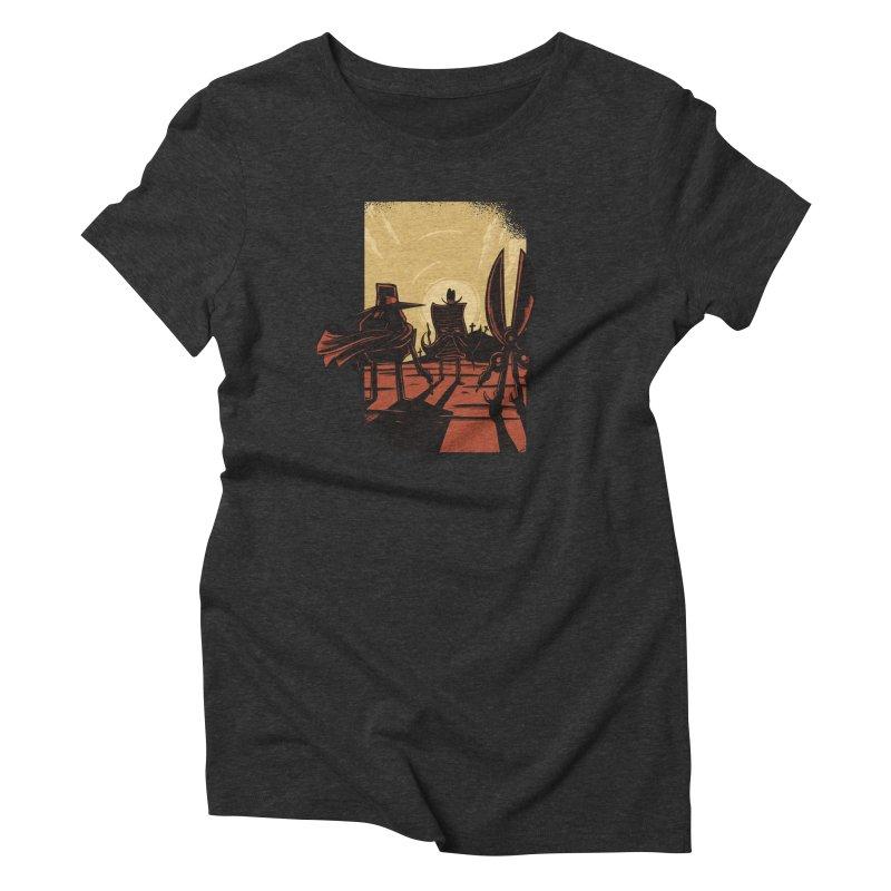 Rock Paper Scissors Women's Triblend T-Shirt by Toxic Onion