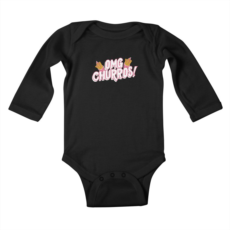 OMG Churros Kids Baby Longsleeve Bodysuit by Toxic Onion