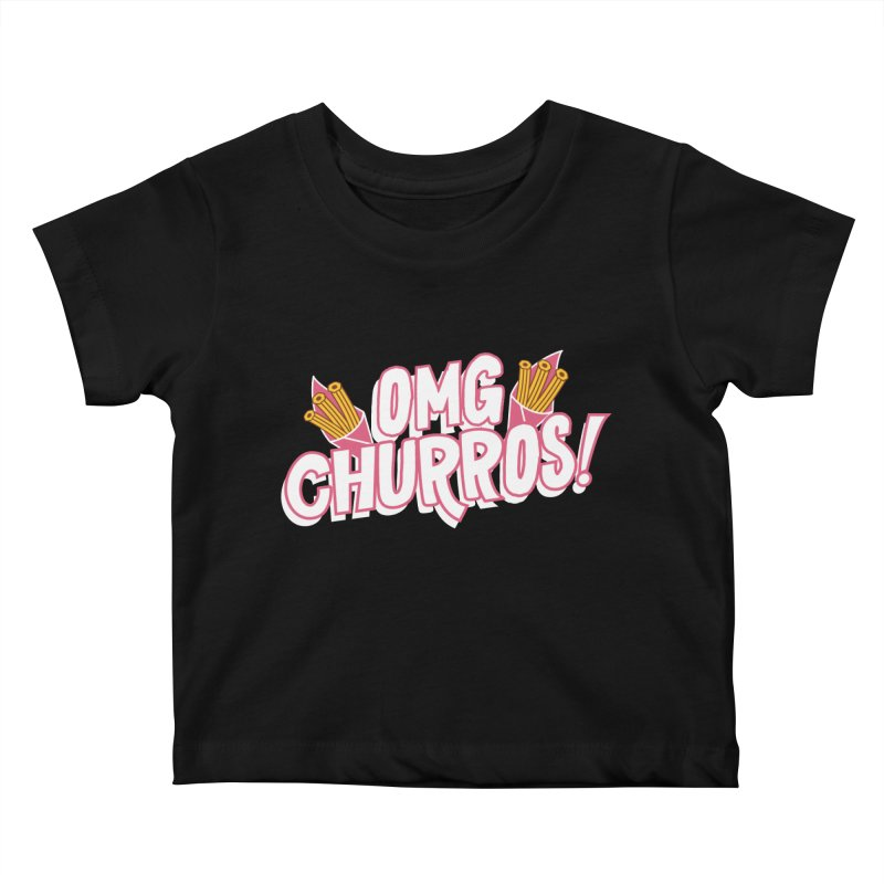OMG Churros Kids Baby T-Shirt by Toxic Onion