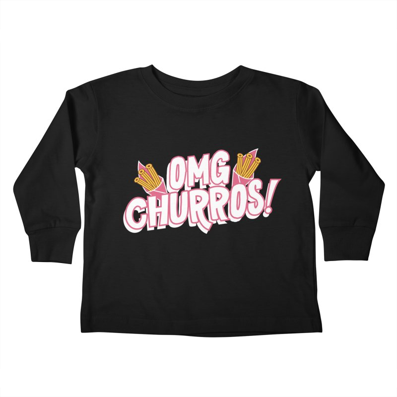 OMG Churros Kids Toddler Longsleeve T-Shirt by Toxic Onion