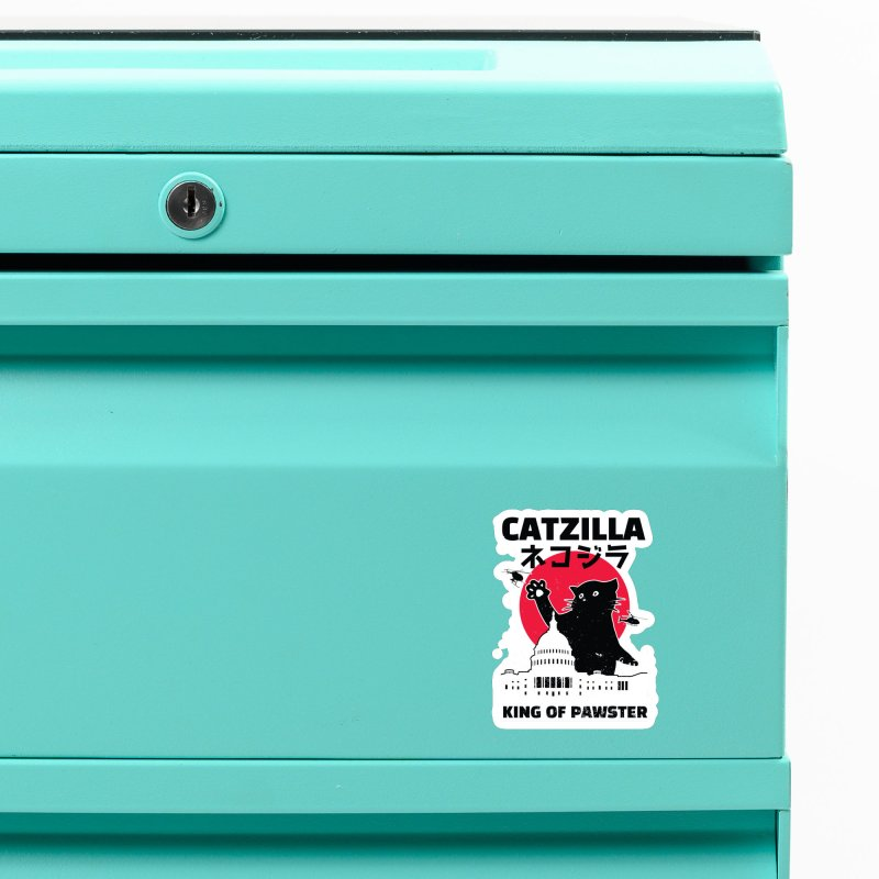 Catzilla Accessories Magnet by Toxic Onion