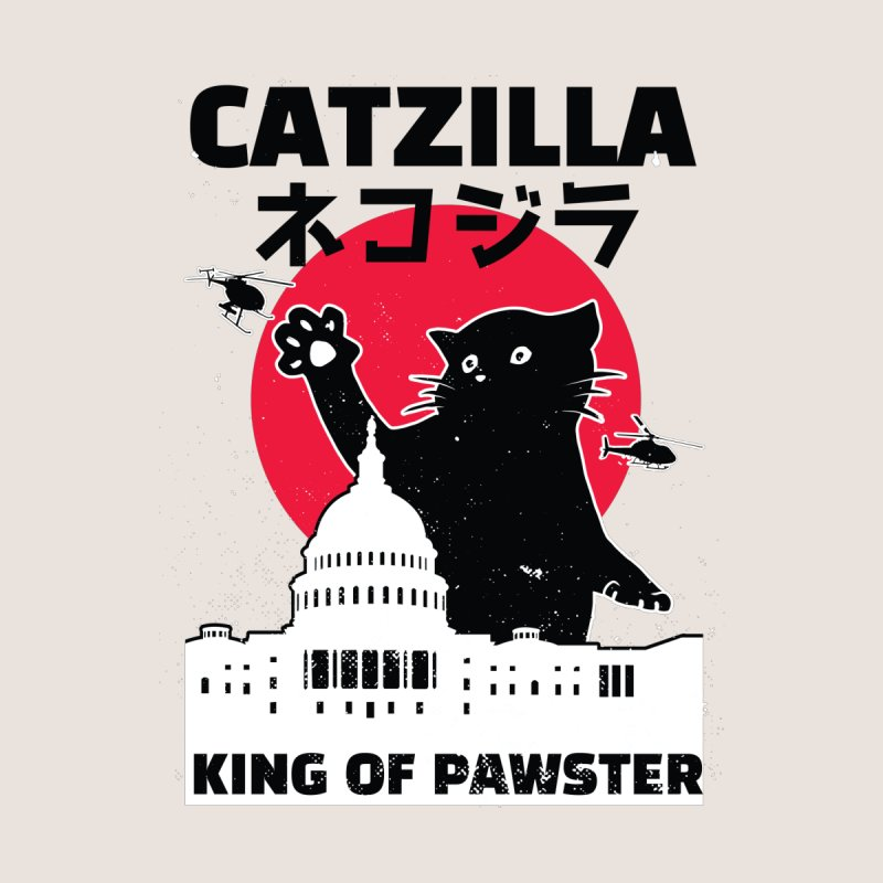 Catzilla Men's Zip-Up Hoody by Toxic Onion