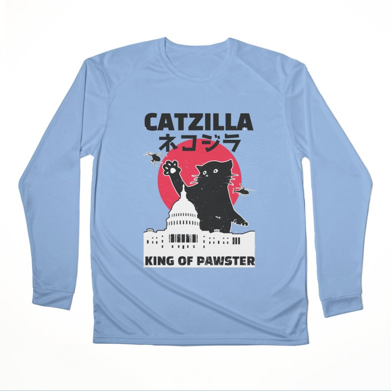 Catzilla Men's Performance Longsleeve T-Shirt by Toxic Onion