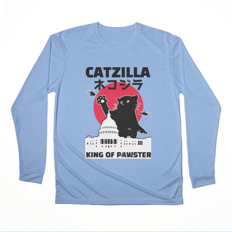 Catzilla Women's Longsleeve T-Shirt by Toxic Onion