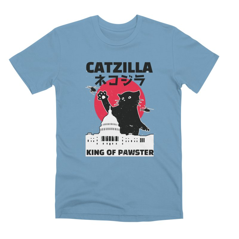 Catzilla Men's Premium T-Shirt by Toxic Onion