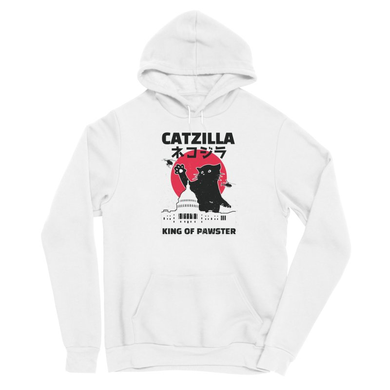 Catzilla Men's Sponge Fleece Pullover Hoody by Toxic Onion