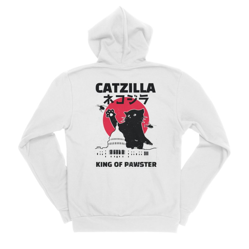 Catzilla Women's Zip-Up Hoody by Toxic Onion