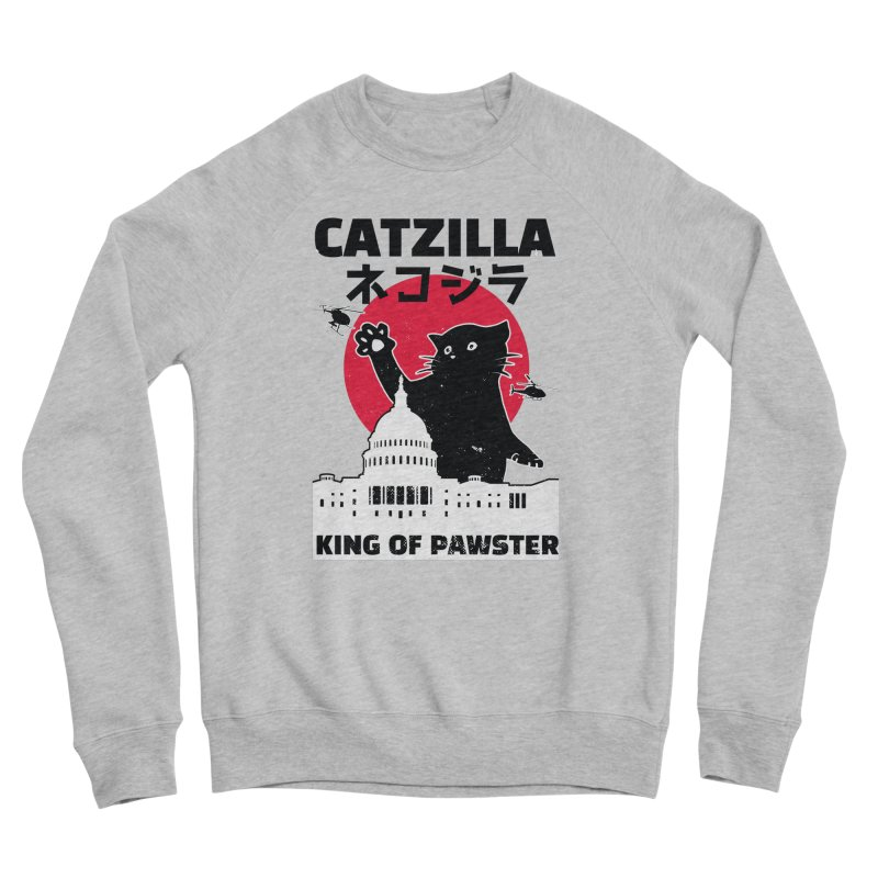 Catzilla Women's Sponge Fleece Sweatshirt by Toxic Onion