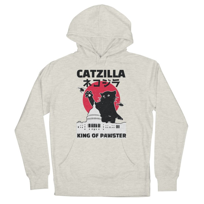 Catzilla Men's French Terry Pullover Hoody by Toxic Onion
