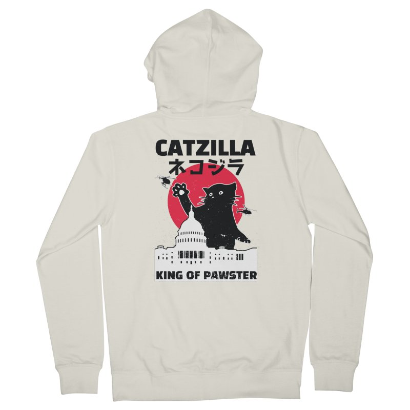 Catzilla Women's French Terry Zip-Up Hoody by Toxic Onion