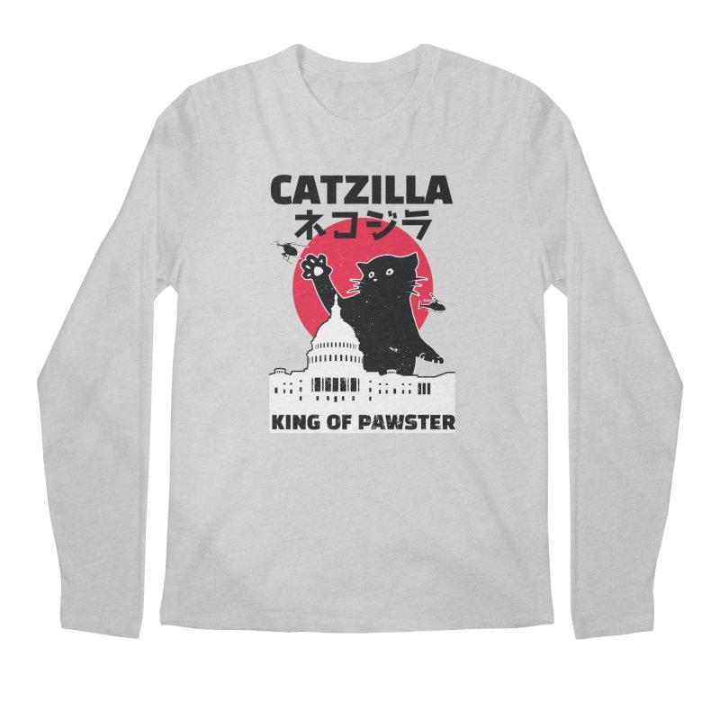 Catzilla Men's Regular Longsleeve T-Shirt by Toxic Onion