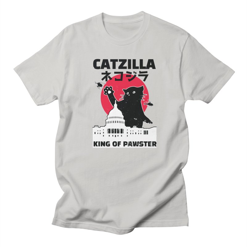 Catzilla Men's T-Shirt by Toxic Onion