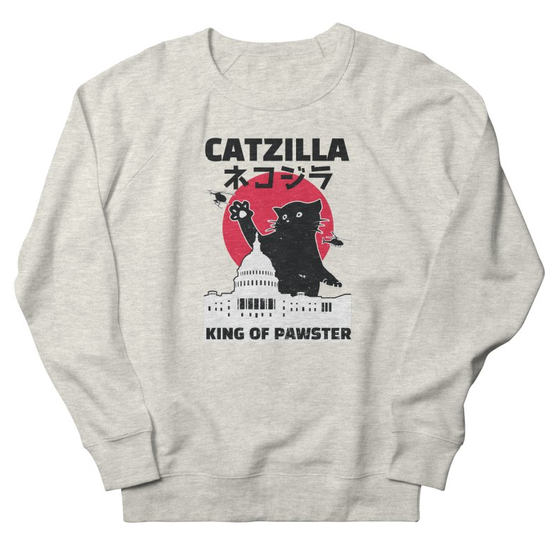 Catzilla Women's French Terry Sweatshirt by Toxic Onion