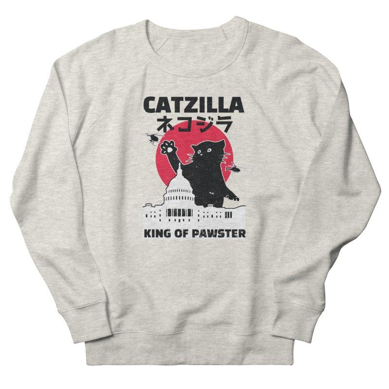 Catzilla Men's French Terry Sweatshirt by Toxic Onion