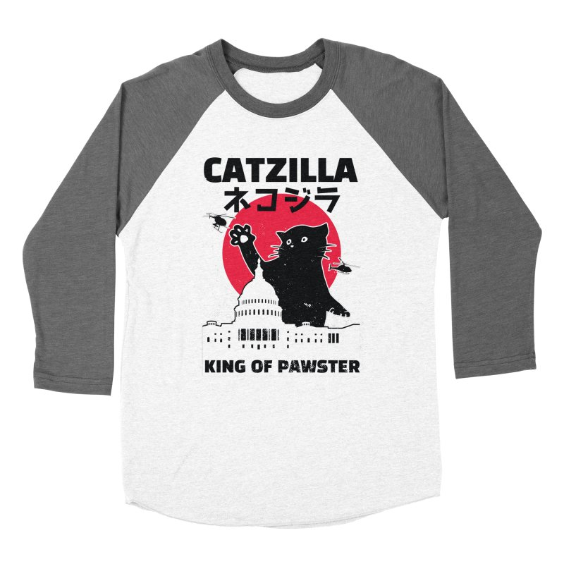 Catzilla Women's Baseball Triblend Longsleeve T-Shirt by Toxic Onion