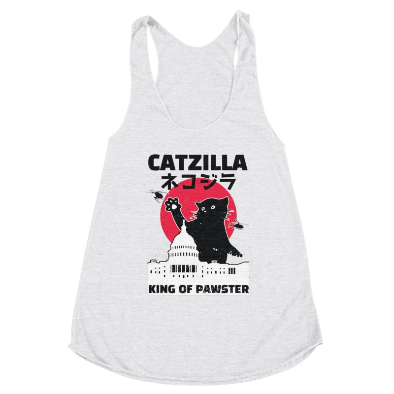 Catzilla Women's Racerback Triblend Tank by Toxic Onion
