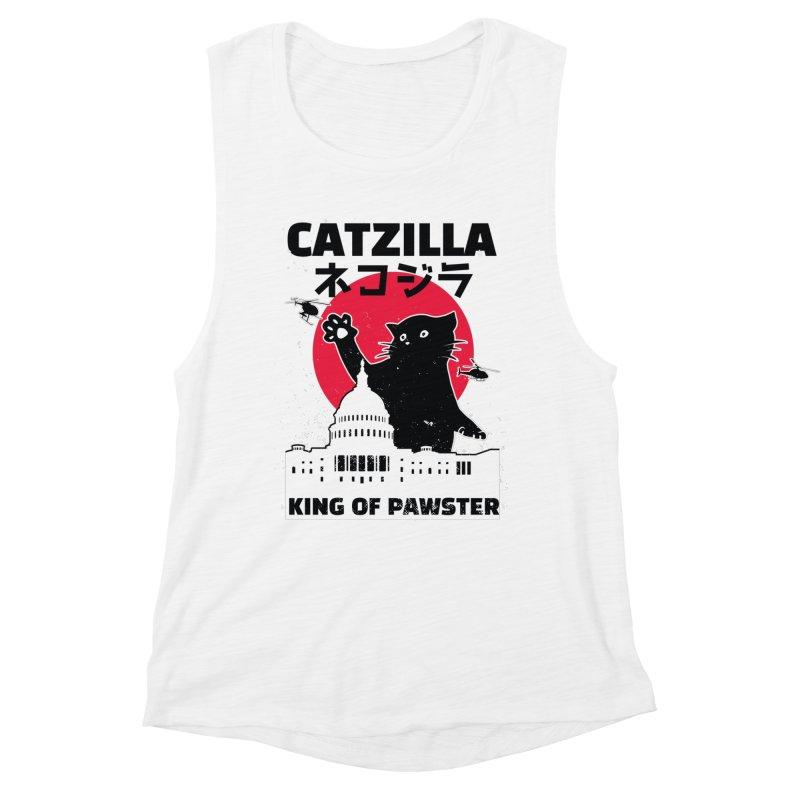 Catzilla Women's Tank by Toxic Onion