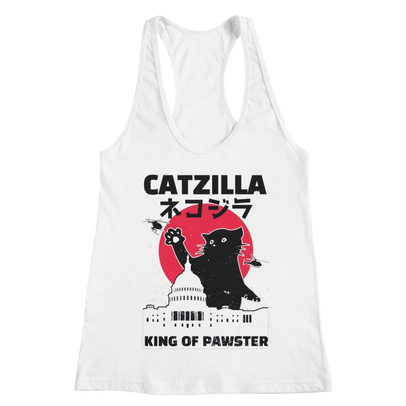 Catzilla Women's Racerback Tank by Toxic Onion