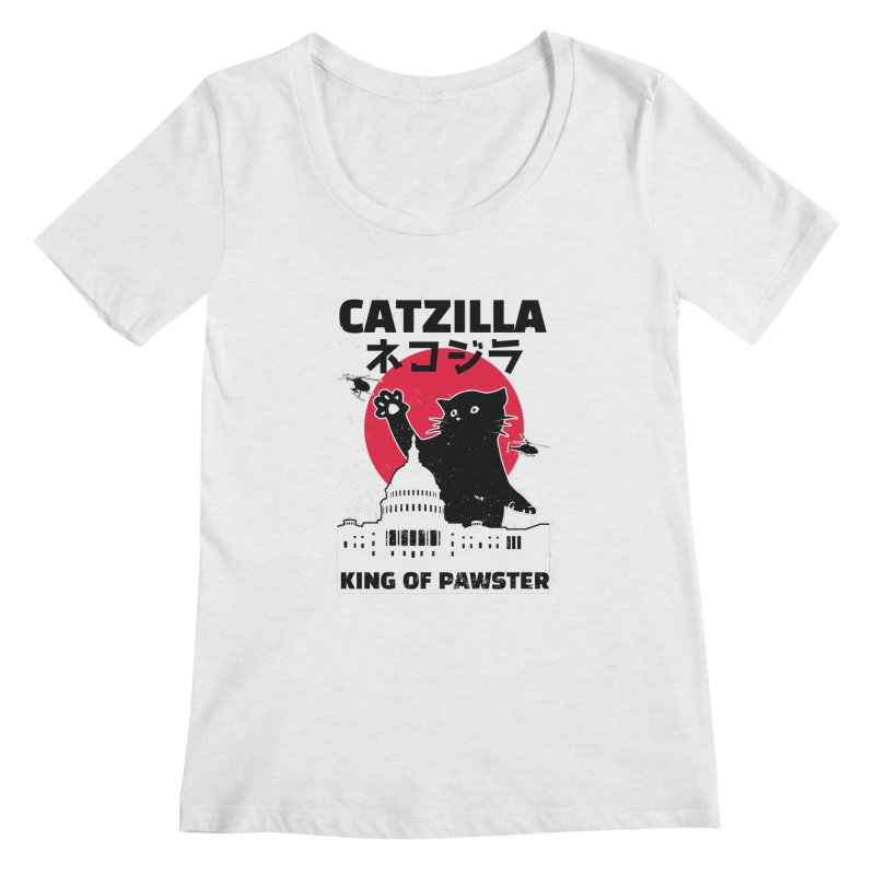 Catzilla Women's Scoop Neck by Toxic Onion