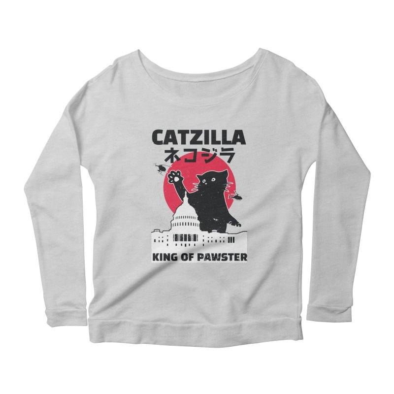 Catzilla Women's Longsleeve T-Shirt by Toxic Onion