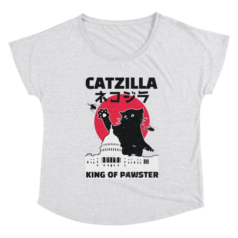 Catzilla Women's Dolman Scoop Neck by Toxic Onion