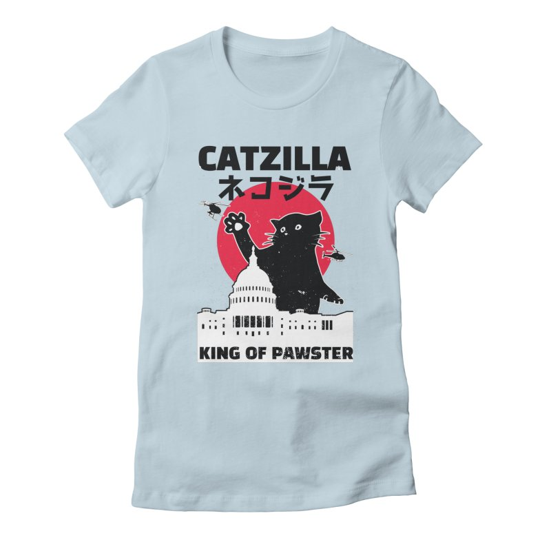 Catzilla Women's T-Shirt by Toxic Onion