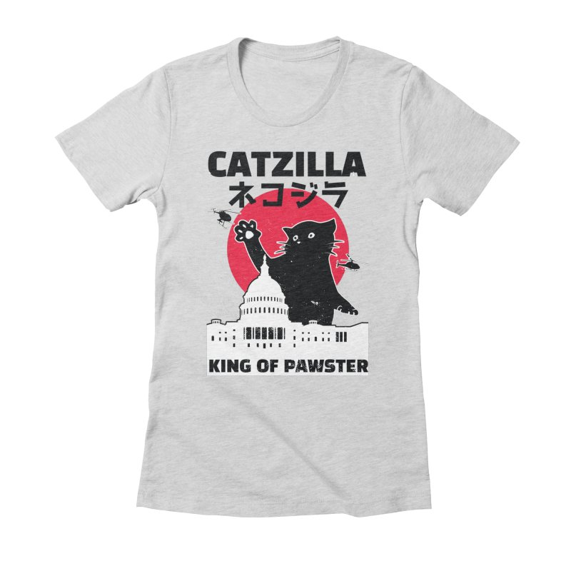 Catzilla Women's Fitted T-Shirt by Toxic Onion