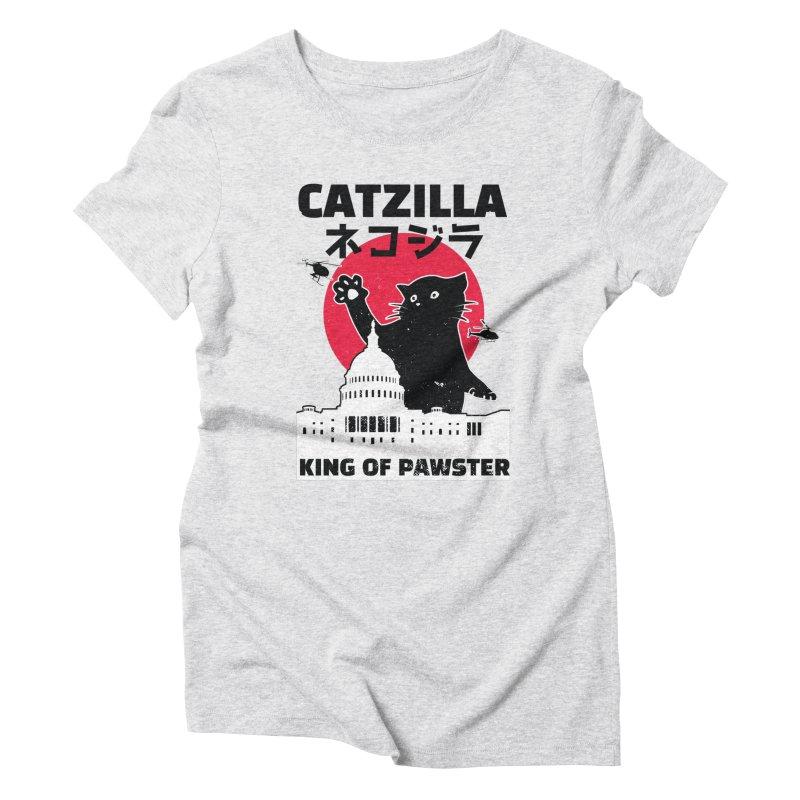 Catzilla Women's Triblend T-Shirt by Toxic Onion