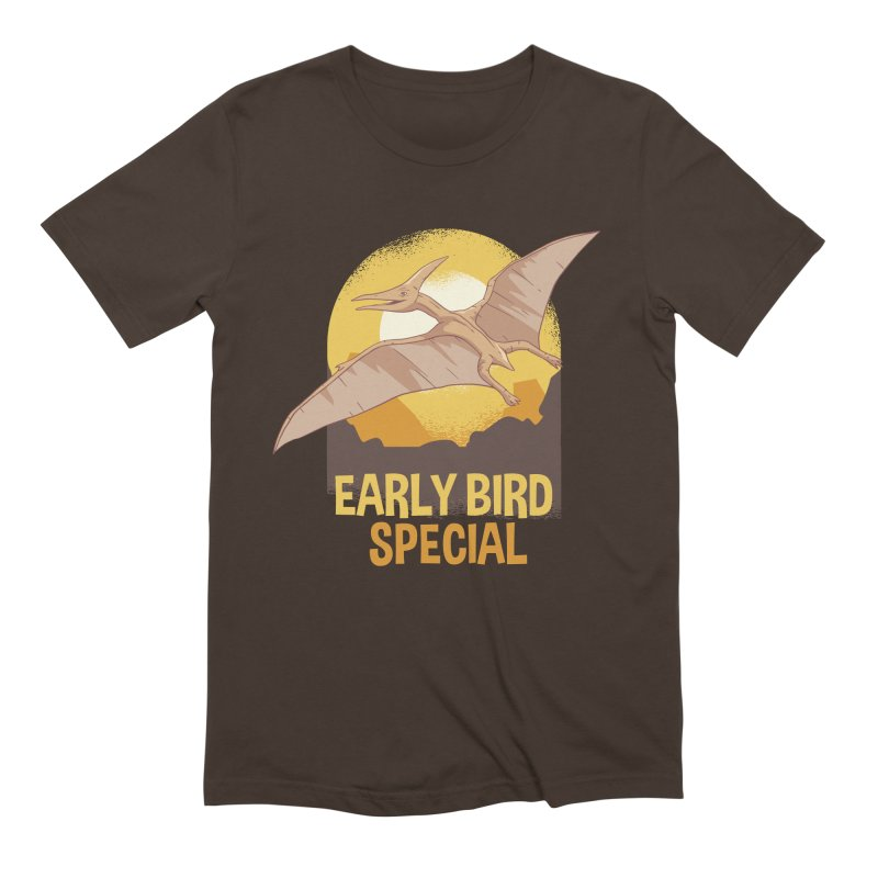 Early Bird Special Men's Extra Soft T-Shirt by Toxic Onion