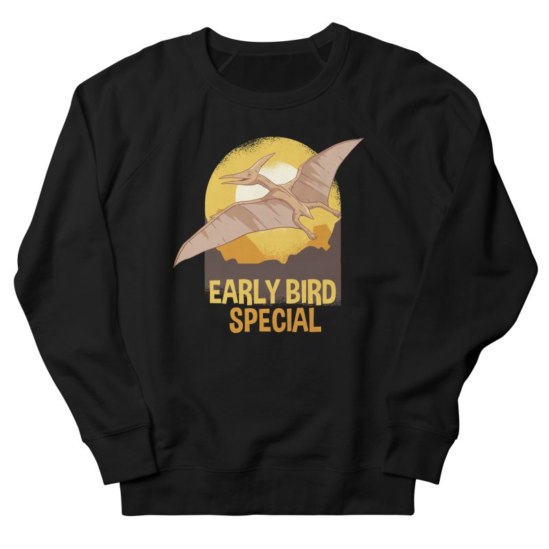 Early Bird Special Men's French Terry Sweatshirt by Toxic Onion