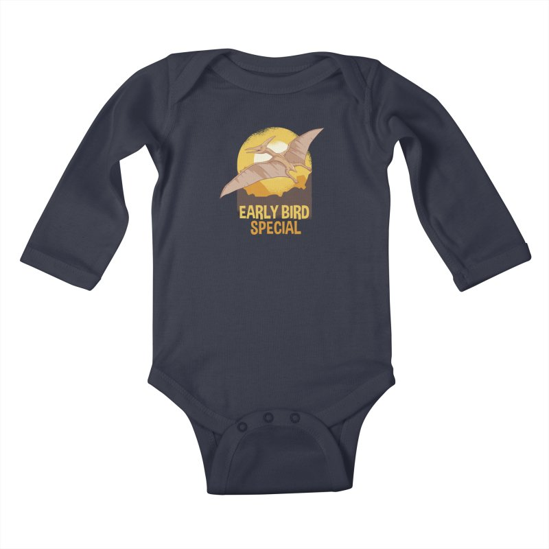 Early Bird Special Kids Baby Longsleeve Bodysuit by Toxic Onion