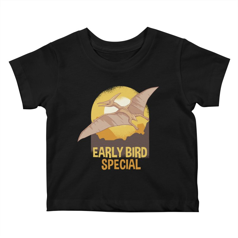 Early Bird Special Kids Baby T-Shirt by Toxic Onion