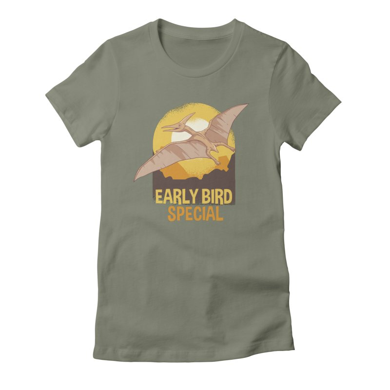 Early Bird Special Women's Fitted T-Shirt by Toxic Onion