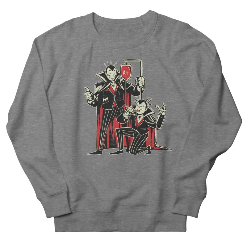 Vampire Blood Bong Men's French Terry Sweatshirt by Toxic Onion