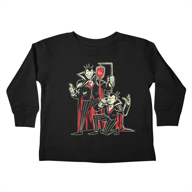 Vampire Blood Bong Kids Toddler Longsleeve T-Shirt by Toxic Onion