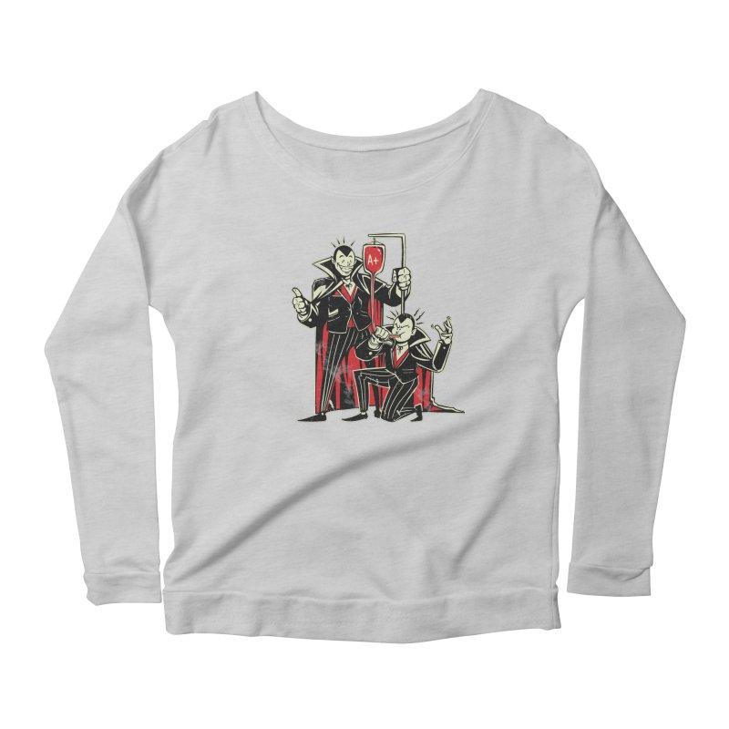 Vampire Blood Bong Women's Scoop Neck Longsleeve T-Shirt by Toxic Onion