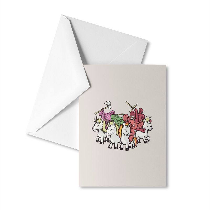 Unicorn Riding Koala Warriors Accessories Greeting Card by Toxic Onion