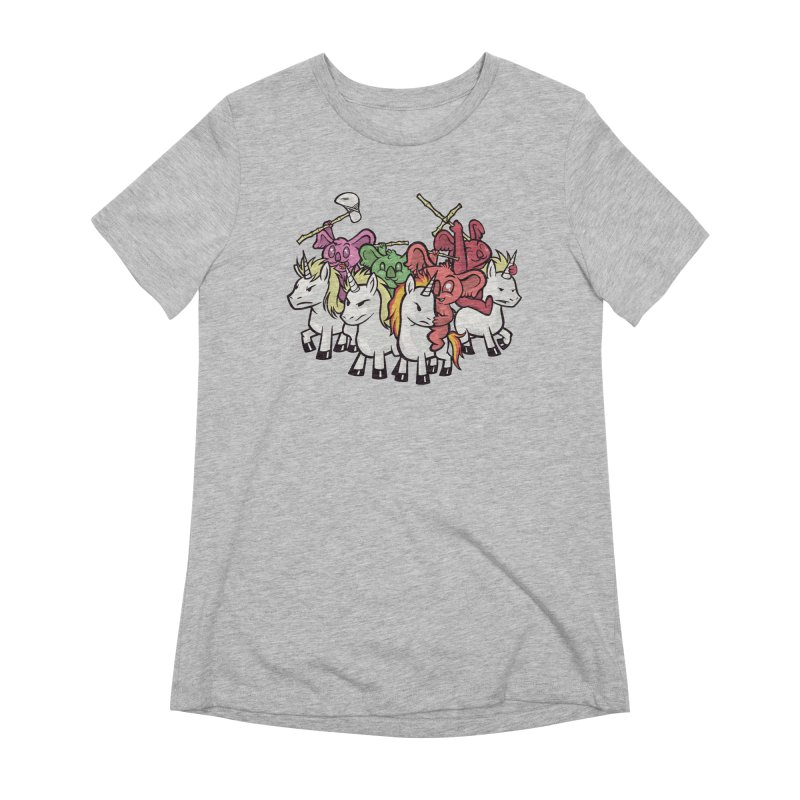 Unicorn Riding Koala Warriors Women's T-Shirt by Toxic Onion