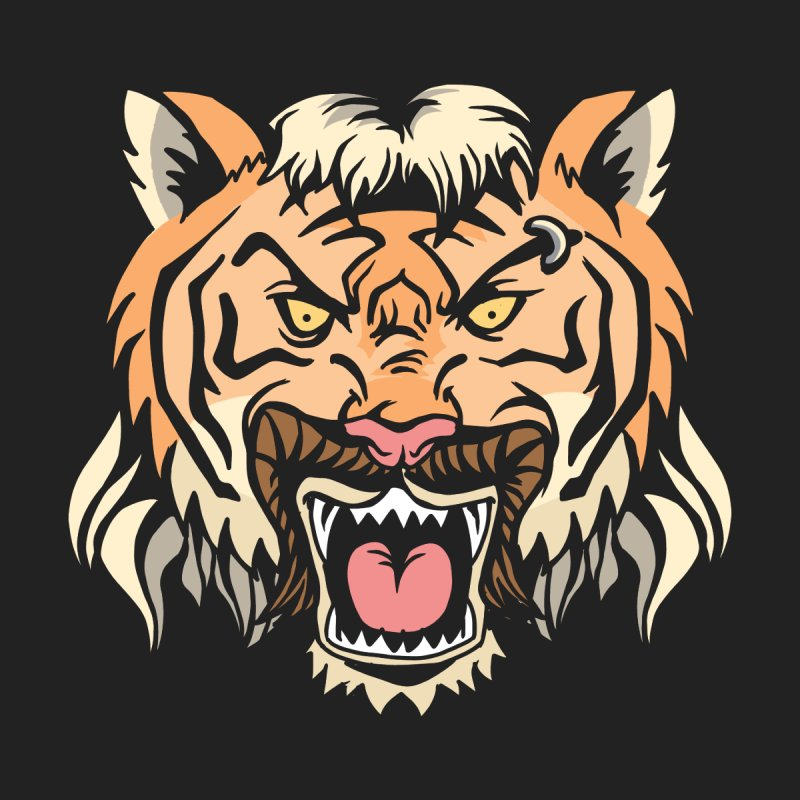 Tiger Mullet Men's T-Shirt by Toxic Onion - A Popular Ventures Company