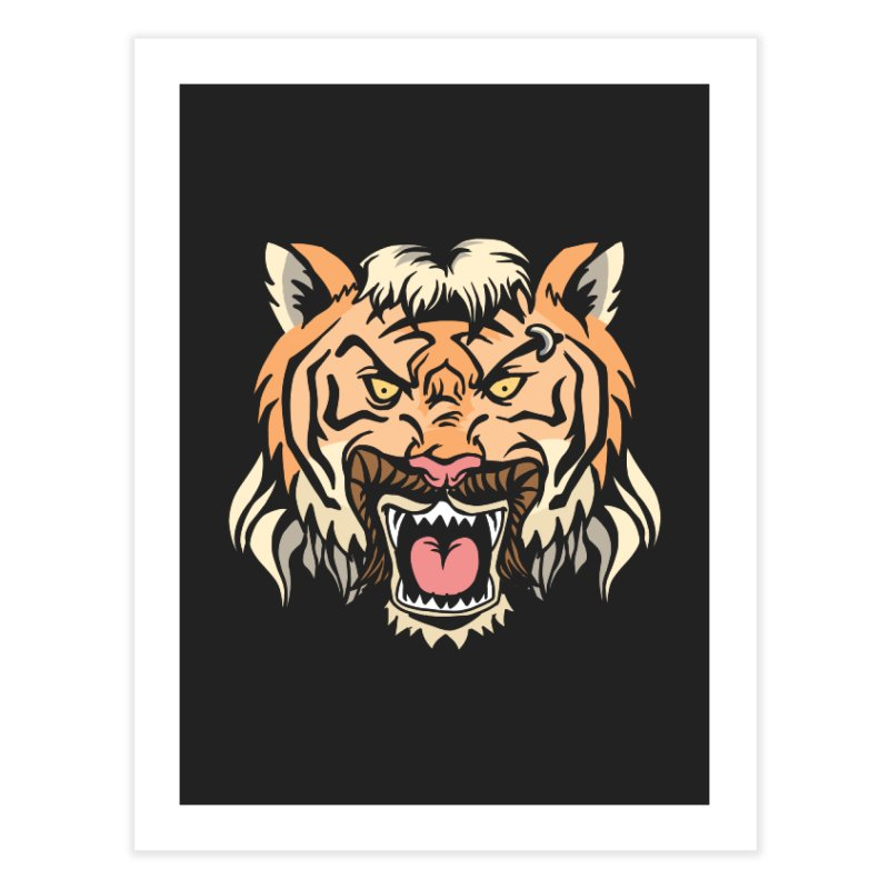 Tiger Mullet Home Fine Art Print by Toxic Onion
