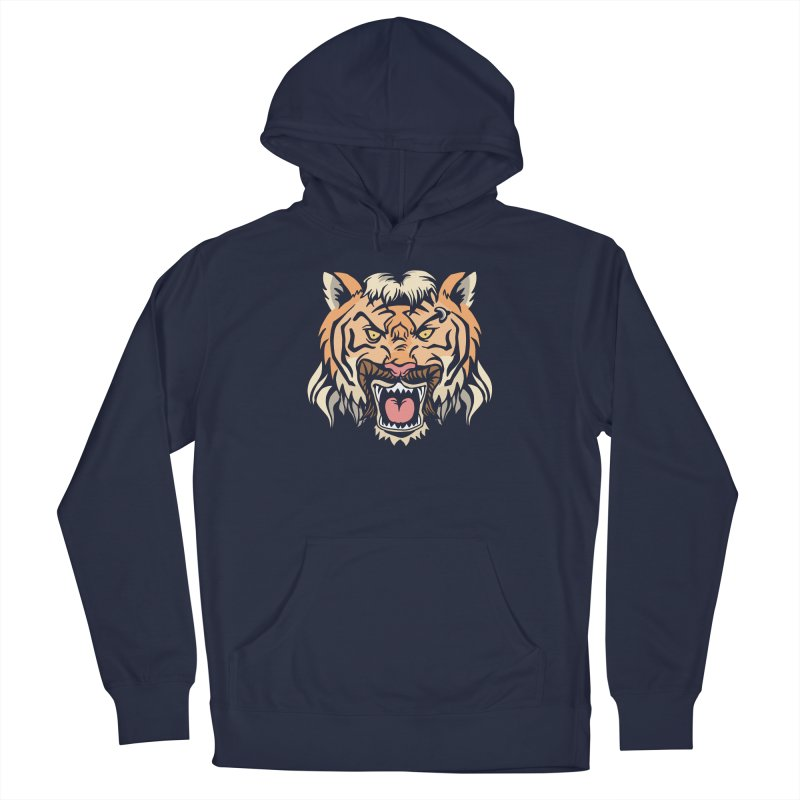 Tiger Mullet Men's Pullover Hoody by Toxic Onion