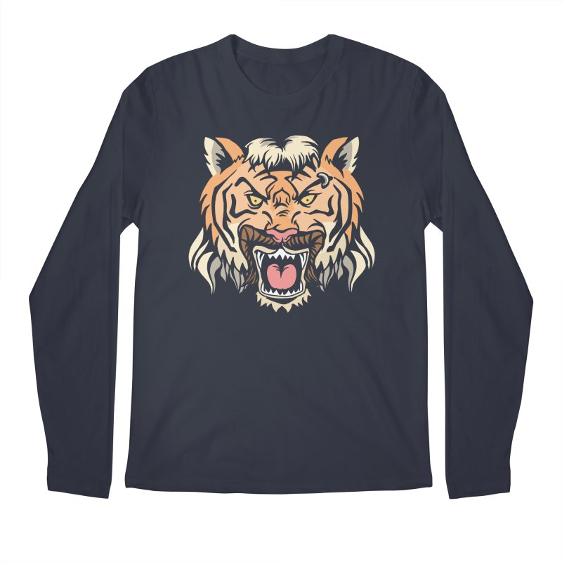 Tiger Mullet Men's Longsleeve T-Shirt by Toxic Onion