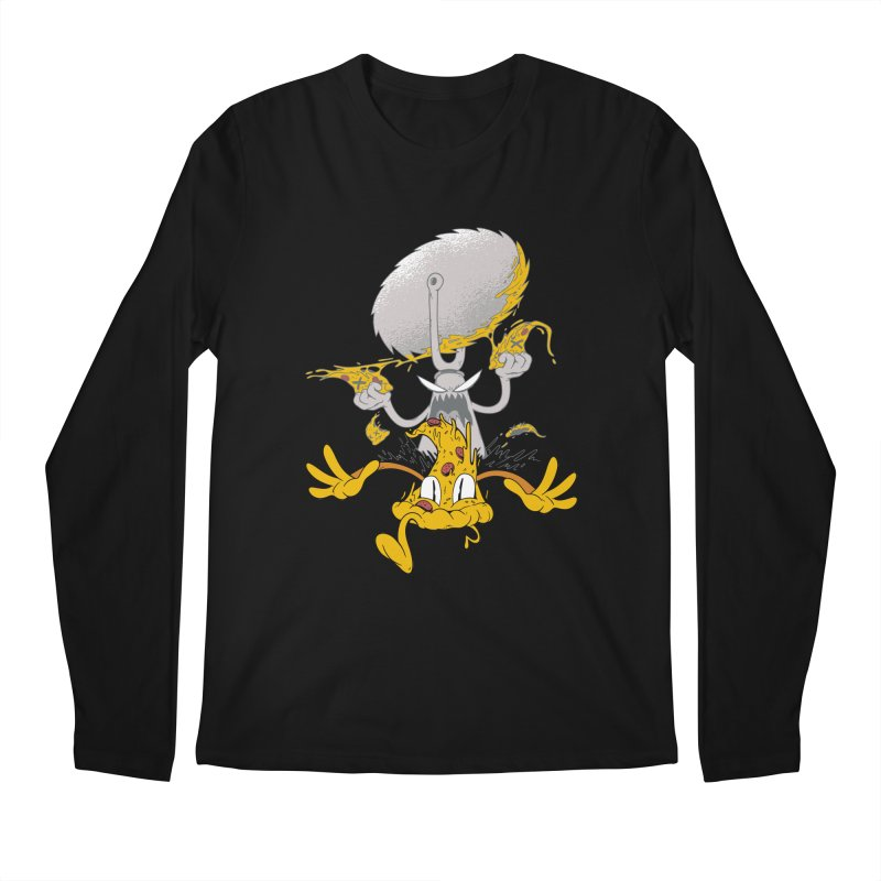 Pizza Slicer Attack Men's Longsleeve T-Shirt by Toxic Onion