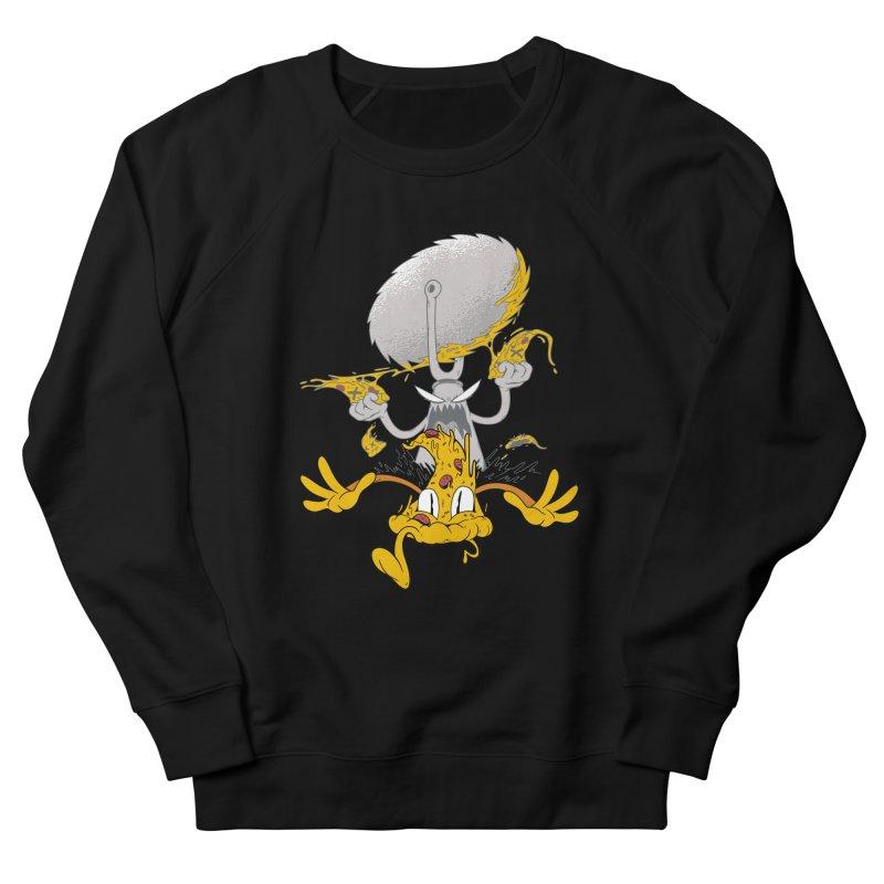 Pizza Slicer Attack Men's Sweatshirt by Toxic Onion