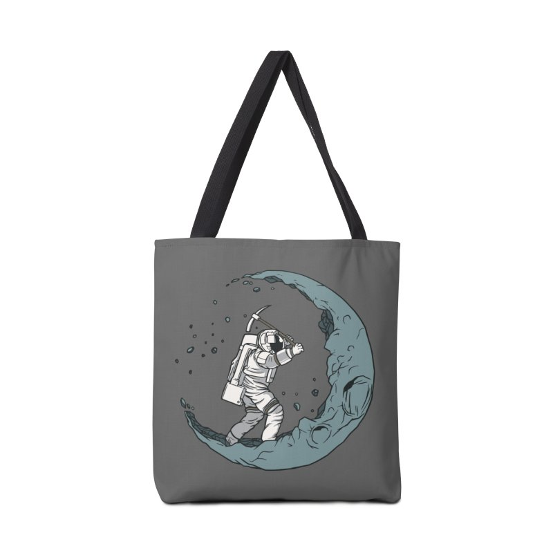 Moon Digging Astronaut Accessories Bag by Toxic Onion