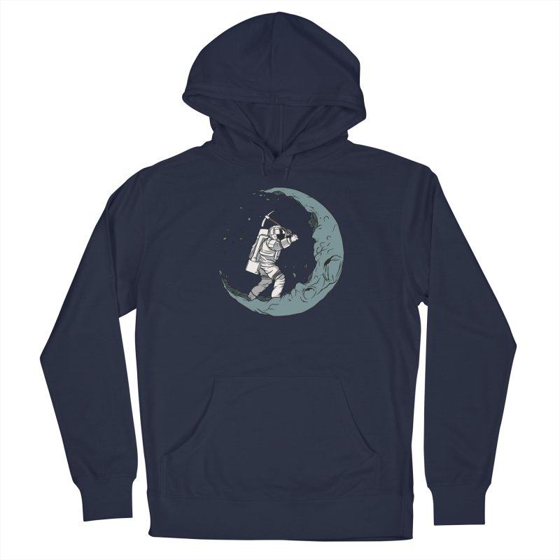 Moon Digging Astronaut Men's Pullover Hoody by Toxic Onion
