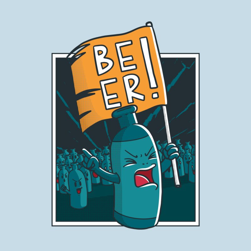 Beer Revolt Men's T-Shirt by Toxic Onion