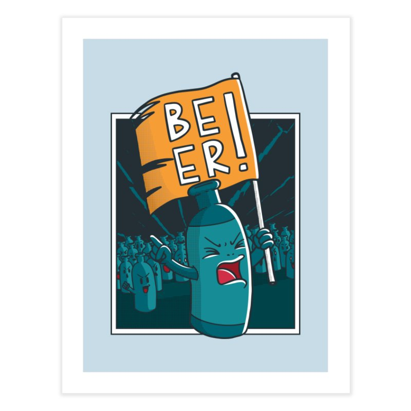 Beer Revolt Home Fine Art Print by Toxic Onion