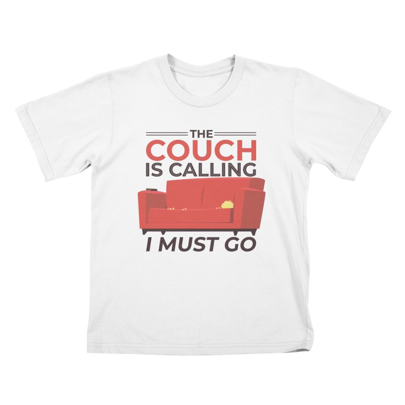 The Couch Is Calling Kids T-Shirt by Toxic Onion
